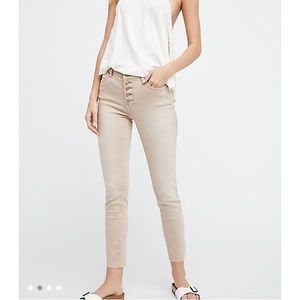 Free People Reagan Button Front Jean